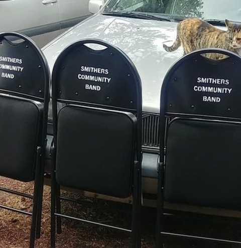 image - Smithers community band - folding chairs to take to concert venues.