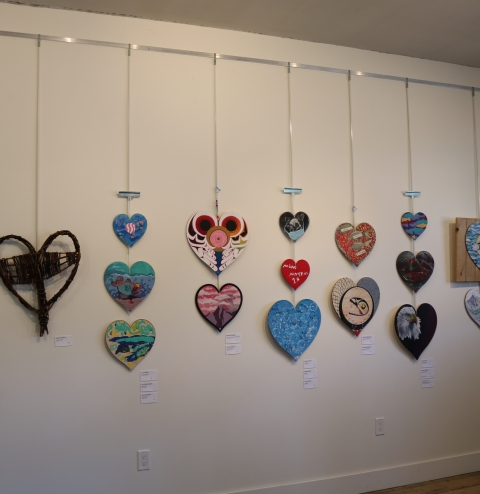 image - Misty Rivers Community Arts Council. Gallery hanging system for gallery in Old Hazelton