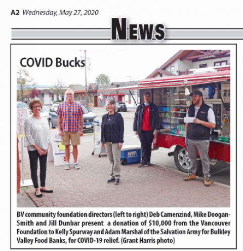 image - Food Banks donation. Photo courtesy Smithers Interior News