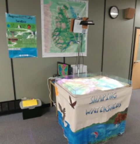 image - Bulkley Valley Research Centre's Augmented Reality Sandbox at the SSS library